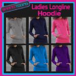 LADIES GIRLS TEENAGERS LONG LINE HOODIE 6 GREAT COLOURS AWD BRAND NEW